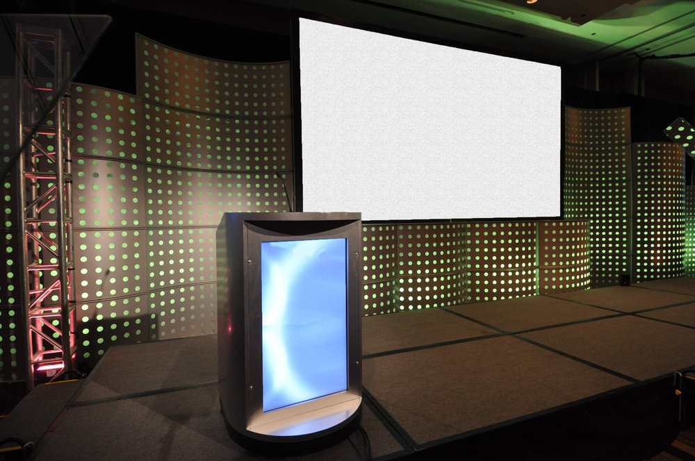 Custom Podium and Backdrop