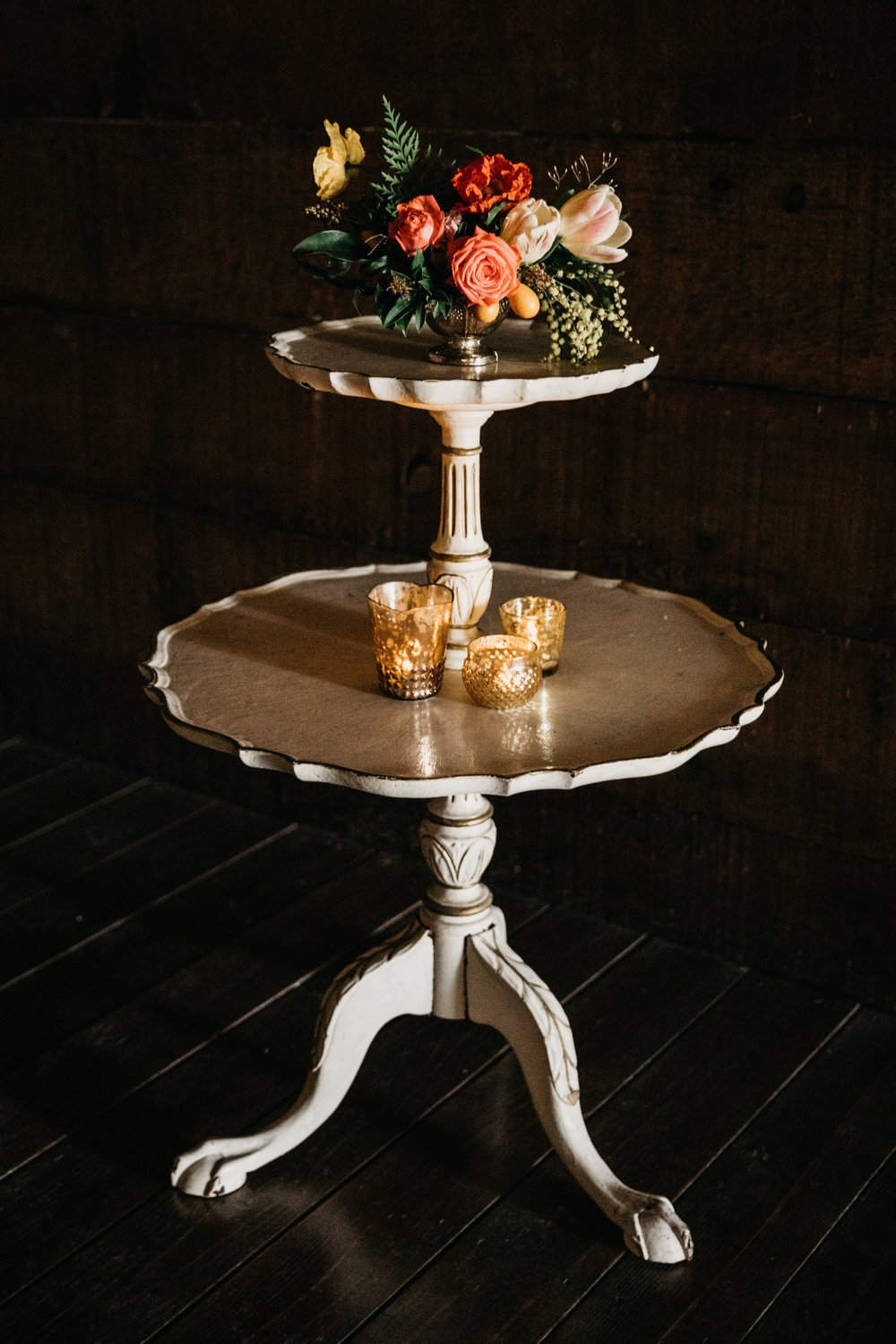 etta two-tier side table $55 (qty 1}