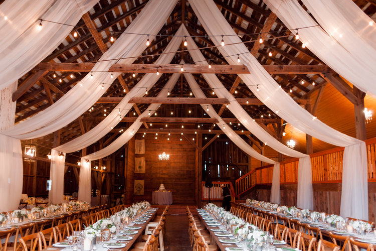 custom barn draping $2000