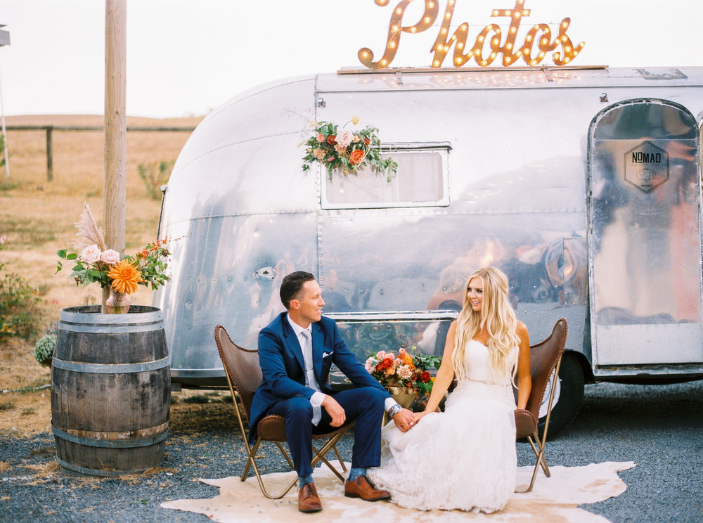 Photo- The Poff's   Vintage Airstream photo booth $2,600 for more pictures and information go to nomadphotoco.com