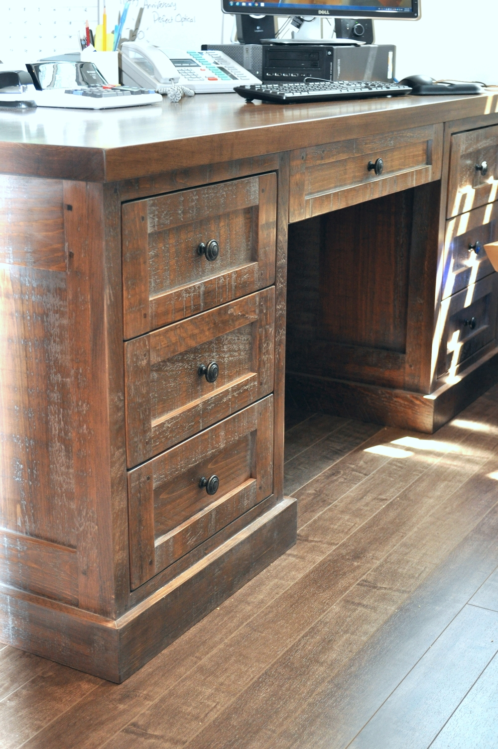 bureau en bois massif