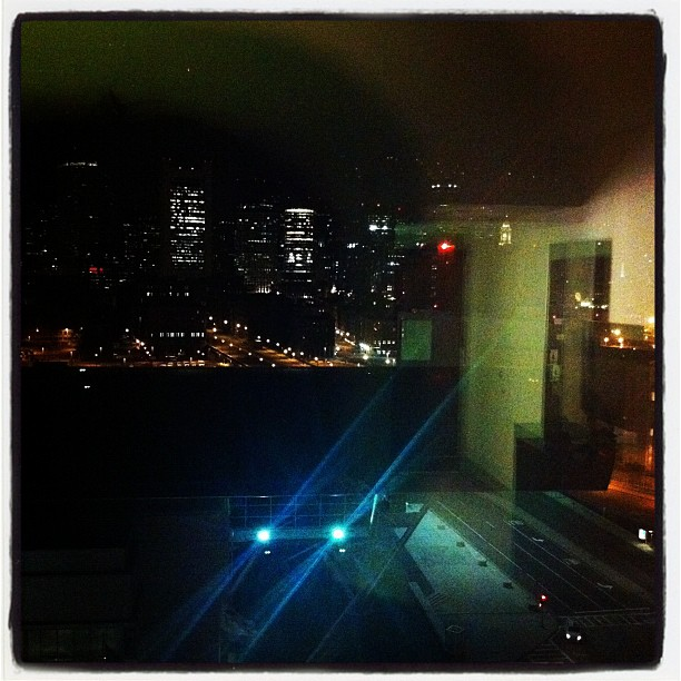 Insomnia View III or Through The Plate Glass. #hotel #dogonpremise #boston #insomnia #reflections (Taken with  Instagram  at Westin Boston Waterfront Hotel)