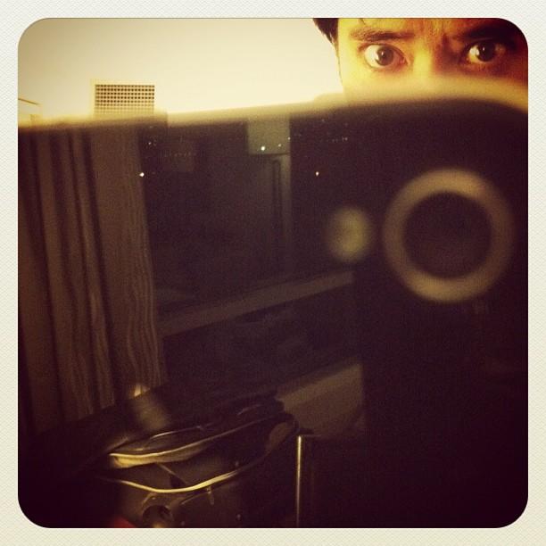Self Eye Portrait or Hotel IV. #boston #dogonpremise #instagram #iphonesia #selfportrait #hotel (Taken with  Instagram  at Westin Boston Waterfront Hotel)