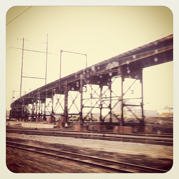 Into Philadelphia Like A Train  (Taken with  Instagram  at Amtrak's Lovely Quiet Car)