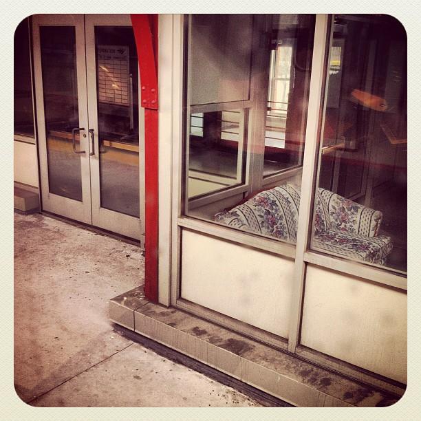 Sofa, Waiting Room, Wilmington Station (Taken with  Instagram  at Wilmington, DE)