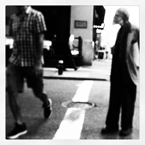 Man Walking, NYC (Taken with  Instagram  at Auster Rubber Corp)