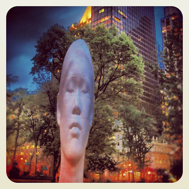 "Juame Plensa's""Echo"" Madison SQ Park NYC (Taken with  instagram )"
