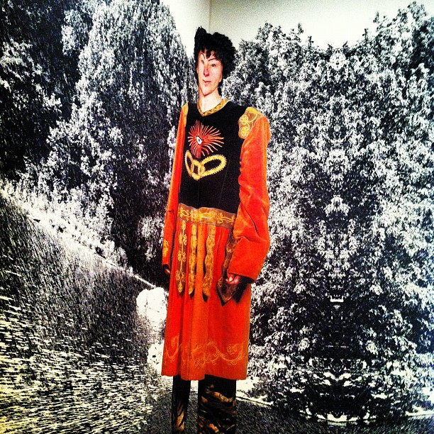 Cindy Sherman In Wall Fold, MoMA, NYC (Taken with  Instagram  at MoMA - Museum of Modern Art)