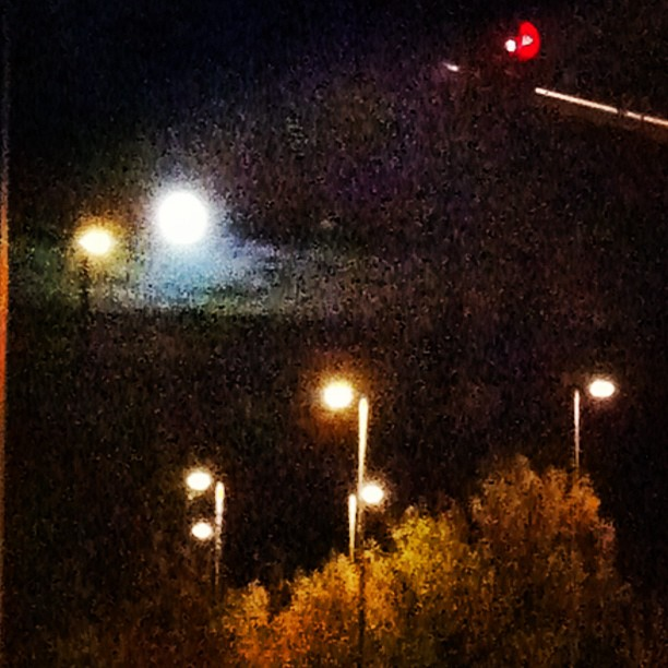 Big Moon and Night Lights, Issaquah WA (Taken with  Instagram  at Tibbetts Valley Park)