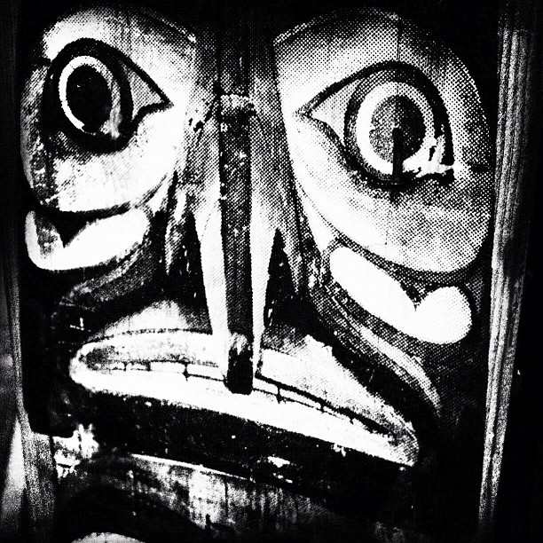 Totemic Street Art or Posted By Nails Through the Art Eyes, Brooklyn NYC (Taken with  Instagram  at Union Pool)