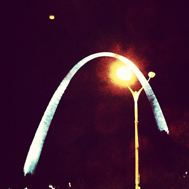 Interposing A Hyperbolic Cosine Function, St Louis (Taken with  Instagram )