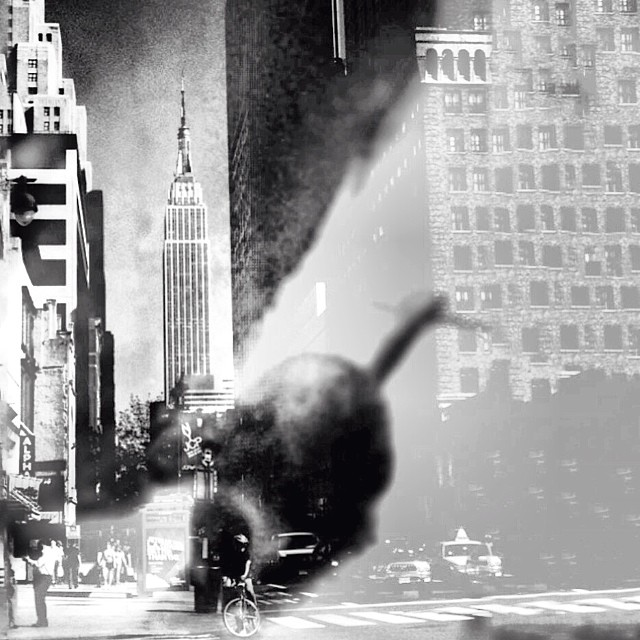 An Entire Film Compressed Into A Moment Just Passing And As if A Reflection Glanced of a Rat, Against A Magnificent Back Drop Changes Everything or On The Otherwise Of Something, Midtown Manhattan, NYC (at Macy's 34th Street, Herald Square)