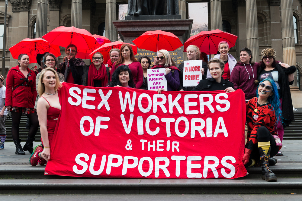 Festival of Sex Work rally, Melbourne 2015