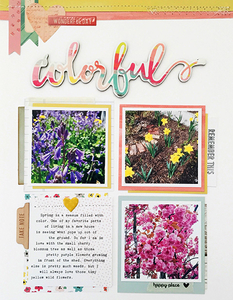 Top strips & Layering Papers: Gossamer Blue Main 2016 Kit, Life Pages, Main Add-On #2 • Stamps: May Life Pages Kit • Title & Embellishments: May Add-On #2, Life Pages Kit, May 2016 Main Kit