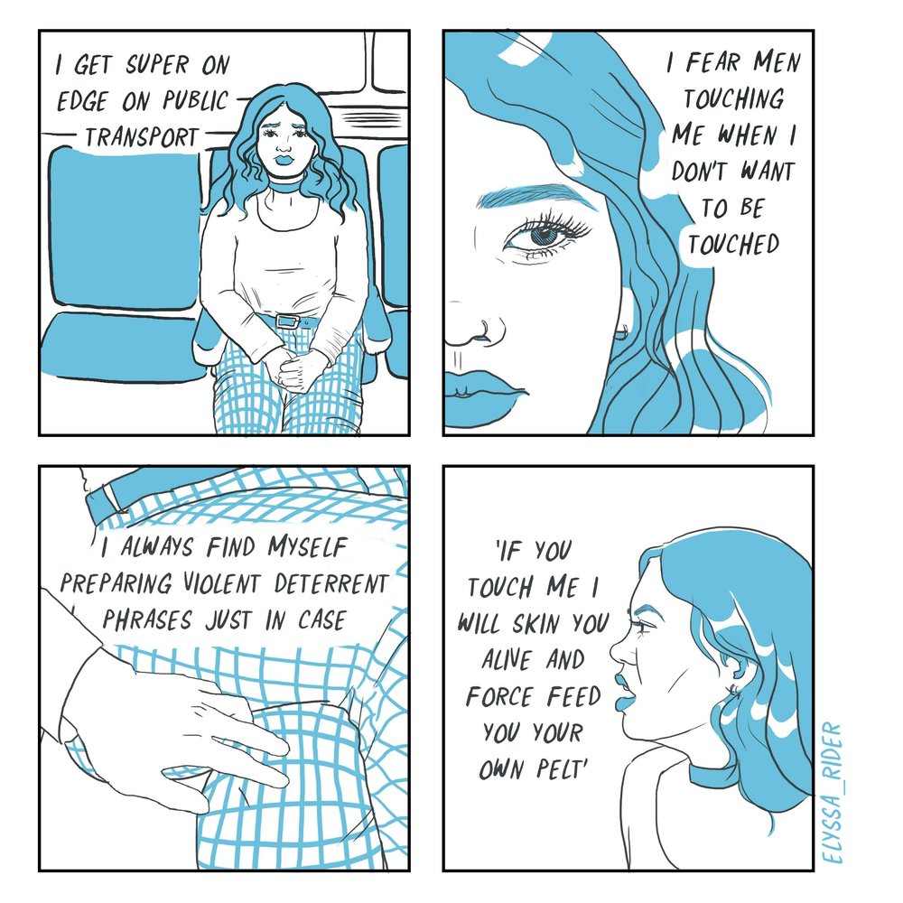 Public Transport Comic - Elyssa Rider