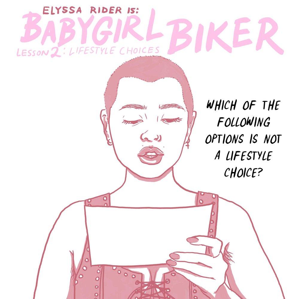 BBG Training - Lifestyle Choices Comic- Elyssa Rider