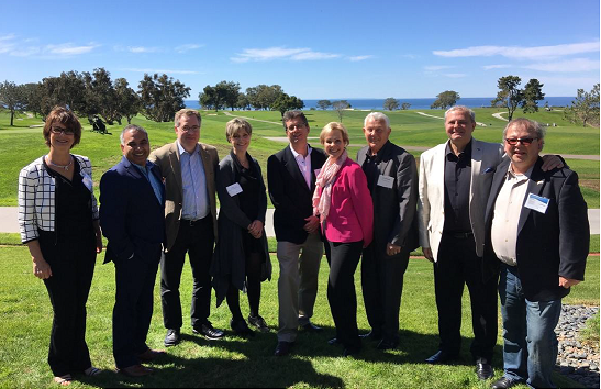 The Canadian Team at the Biocom Global Life Science Partnerning Conference in La Jolla, CA, March 1-2, 2017. PhoenixMD CEO Dr. Sandra Dunn 4th from left, Dr. Dan Zekzer on the right.