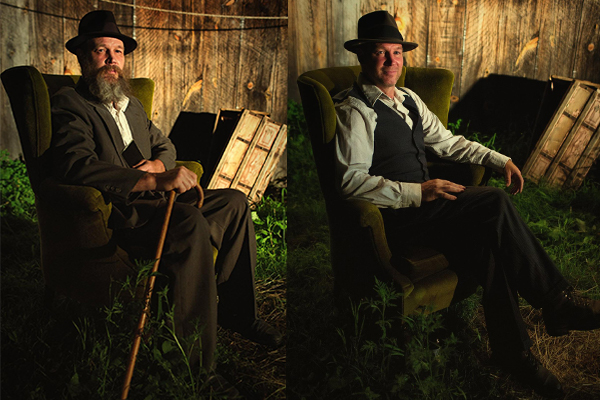 All in a day's work. Anton takes his time machine back and forth for the final shoot of our Collodion Dream. Photos by Dylan Verner.