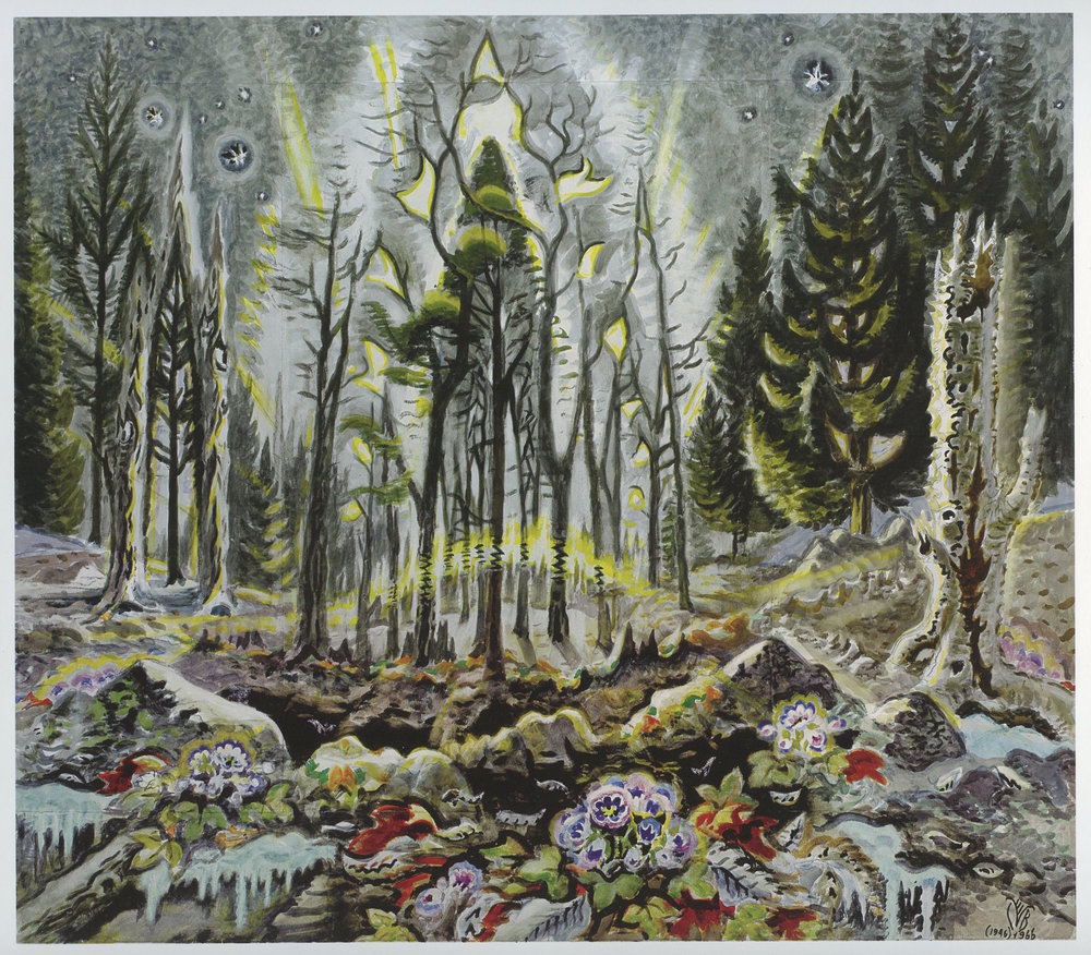 Charles Burchfield, Dawn in the Early Spring, 1946-66