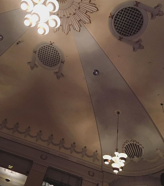 Bournemouth Pavilion beaut of a ceiling #ivegotthisthingwithceilings #lighting
