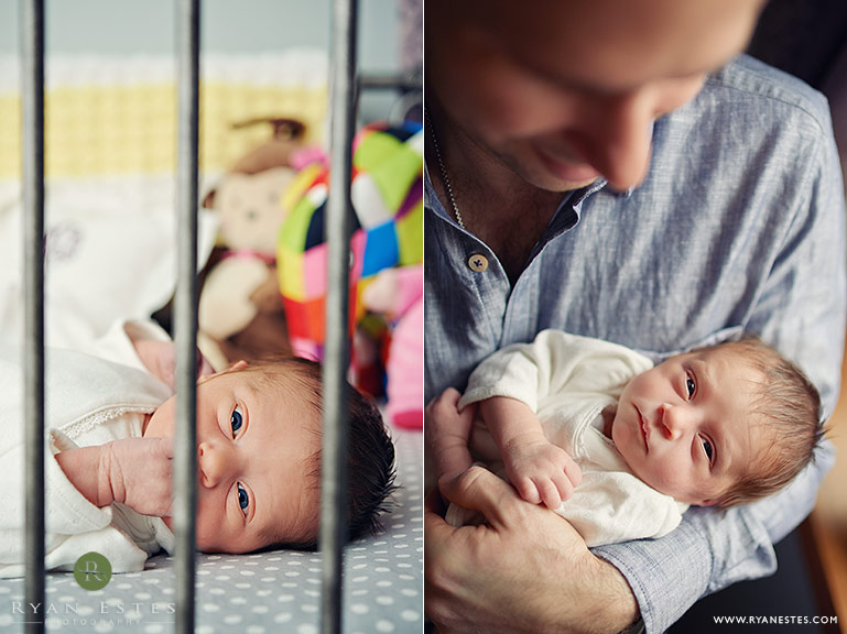 philadelphia newborn baby in crib