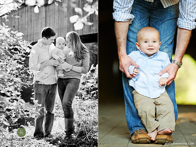 covered bridge family photography at tyler state park