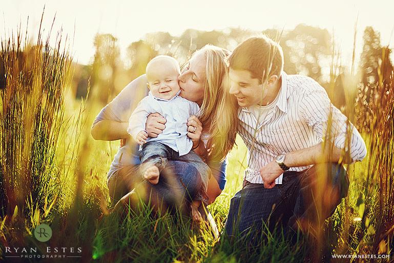 sunset family portraits in bucks county pennsylvania