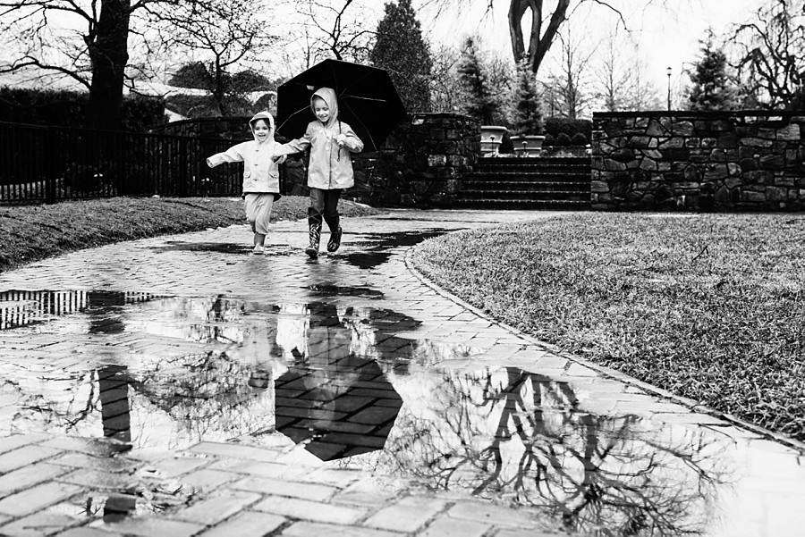 Puddle jumping at Longwood Gardens
