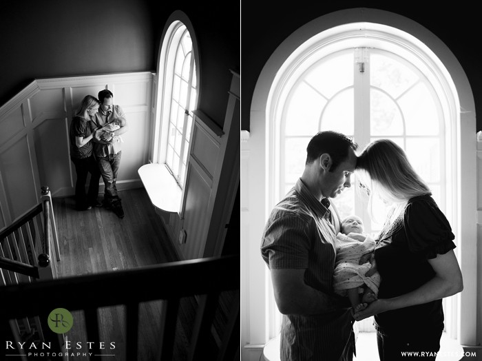 Natural light newborn photography in Media, PA