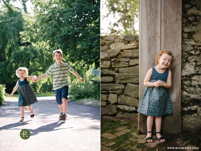 Child portraits at Morris Arboretum