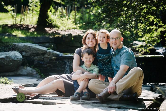 Family in morning light