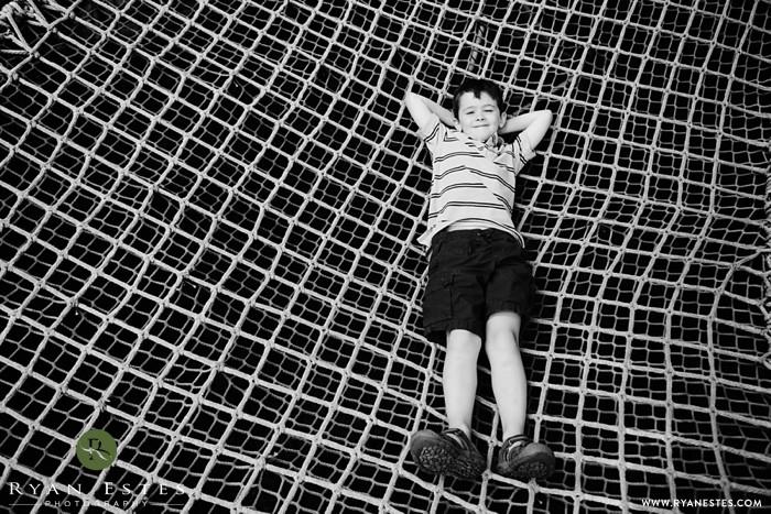On the ropes at Morris Arboretum