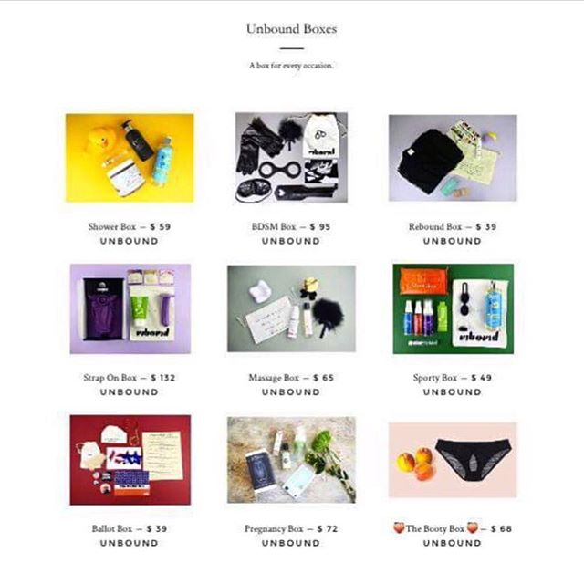 💝Unbound NYC - we love you! Visit unboundbox.com/ @unboundbox and explore their chic and playful selection of today's most popular intimate products perfect for any woman and every woman 💋