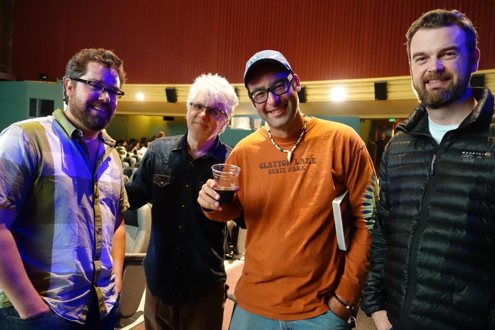 Fest Executive Director Doug Whyte, Sundance award-winning Film Editor Greg Snider, Human Access Project Founder Willie Levenson, Sundance award-winning Film Producer/Director Peter Richardson
