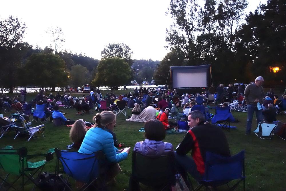 """outdoor screening of """"Upriver"""""""