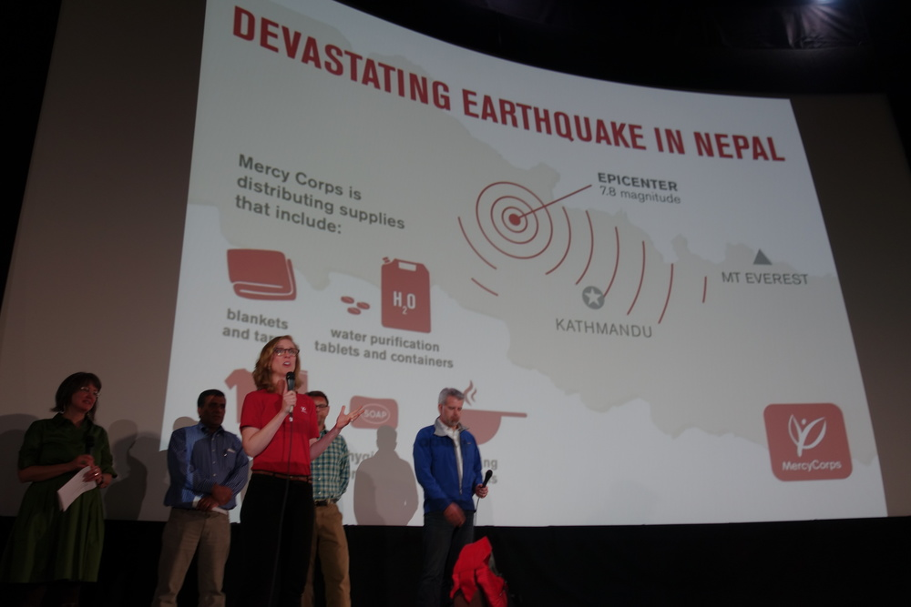 film benefit for Mercy Corp's Nepal Earthquake Relief Fund