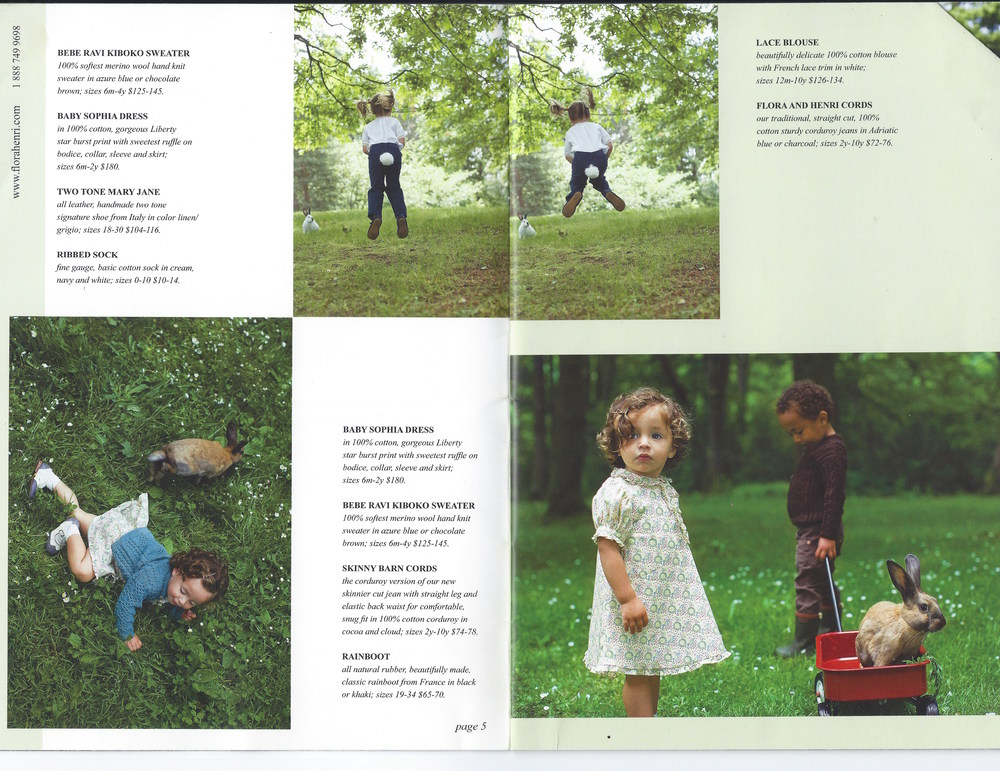 Flora and Henri Catalogue