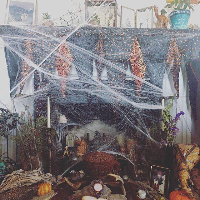 October altar #occult #witchcraft #halloween