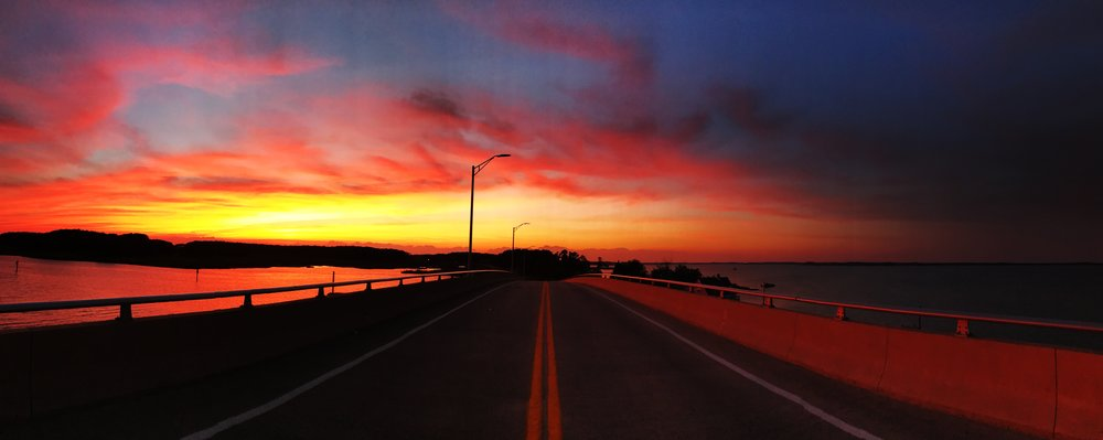 Hoopers Island Bridge - Summer time sunset.