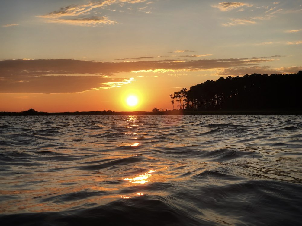 Sunday evening sunset after a busy day fishing.