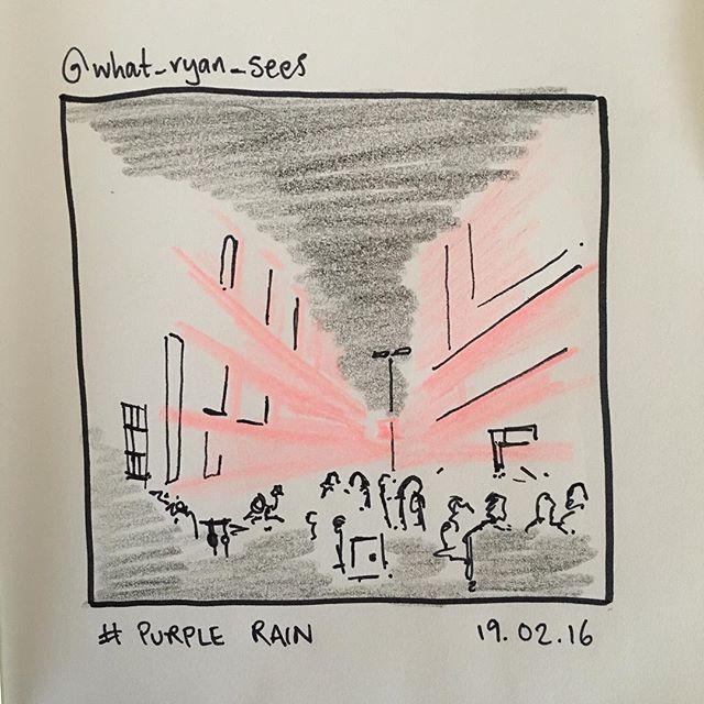 'Purple Rain' by @what_ryan_sees 19.02.16 #insta_sketching #instasketching #whitenight #purple
