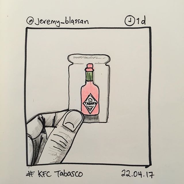 'KFC tabasco' by @jeremy_blassan 22.04.17 #instasketch #instasketching #insta_sketching #tabasco #kfc