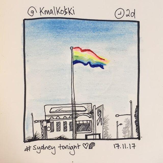 'Sydney Tonight' by @kmalkoski #instasketching #insta_sketching 17.11.17