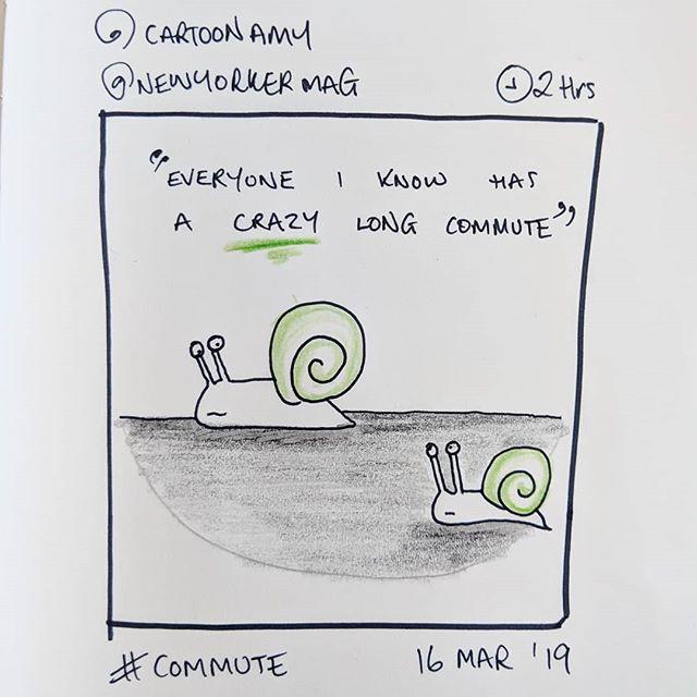 'commute' by @cartoonamy @newyorkermag 16 March 2019 #instasketching #insta_sketching