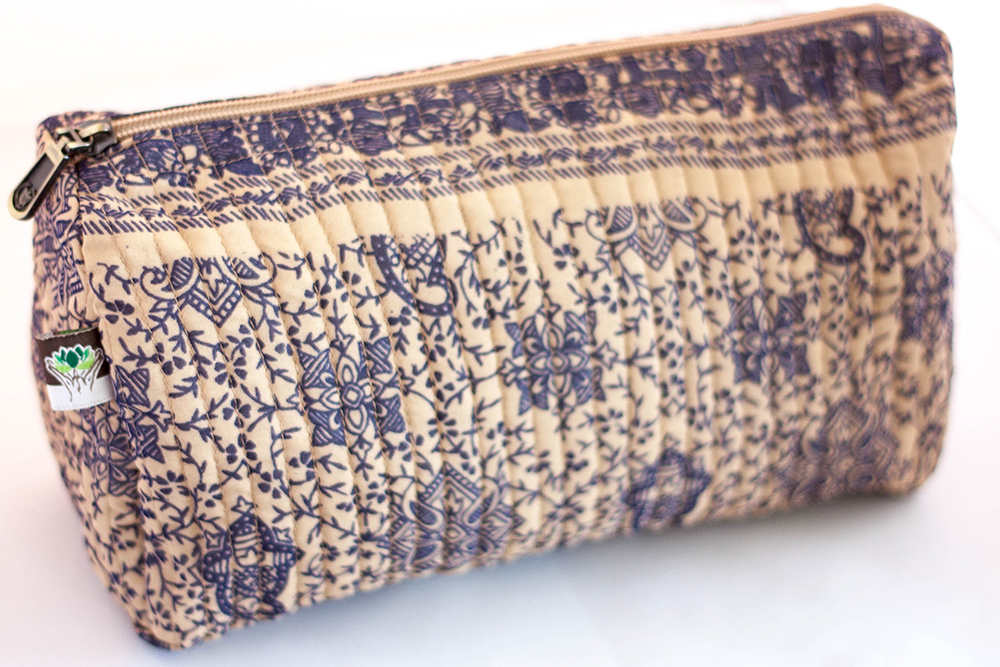 Quilted Cotton Travel Case from Vintage Indian Textiles | Made With a Purpose