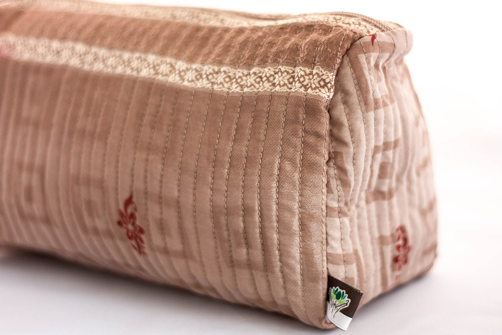 Blush Quilted Travel Case from Vintage Indian Textiles | Made With a Purpose