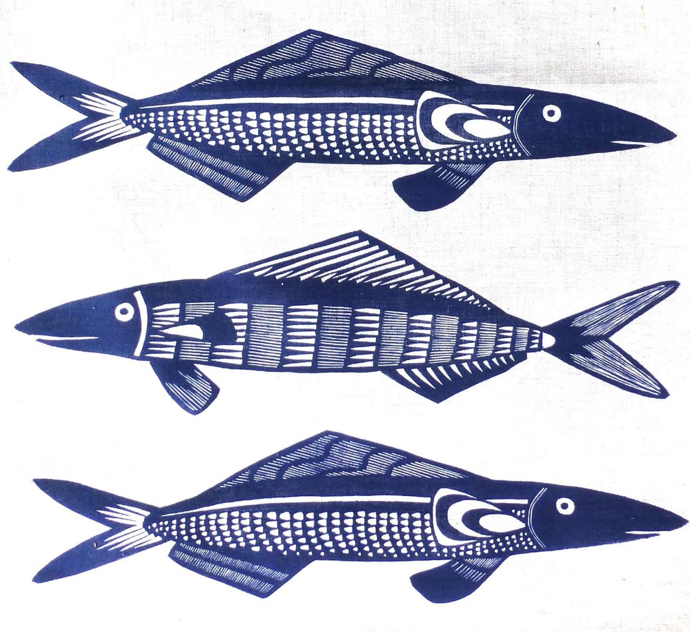 Fish teatowel Navy.jpg