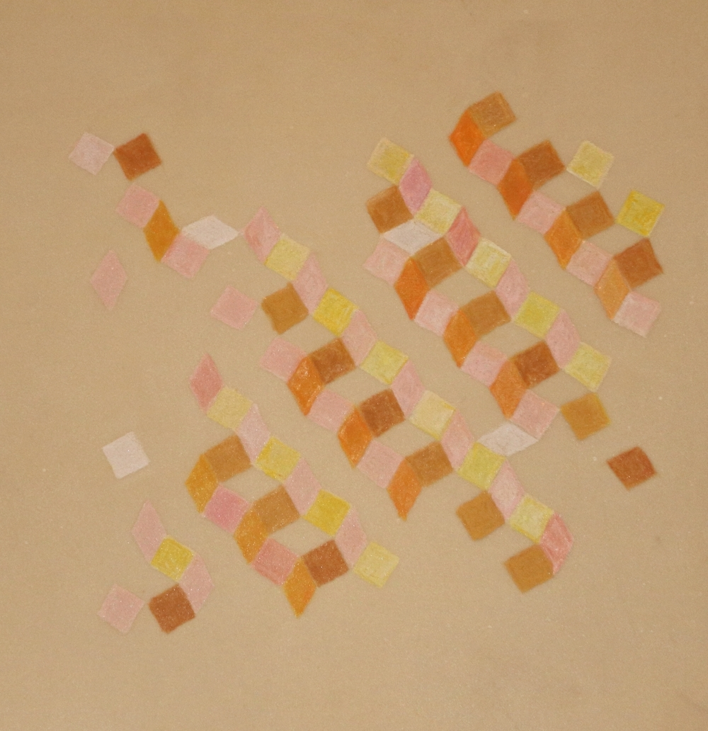 Waving Chain Study   2014 Mixed media on vellum 9 in. x 9 in.