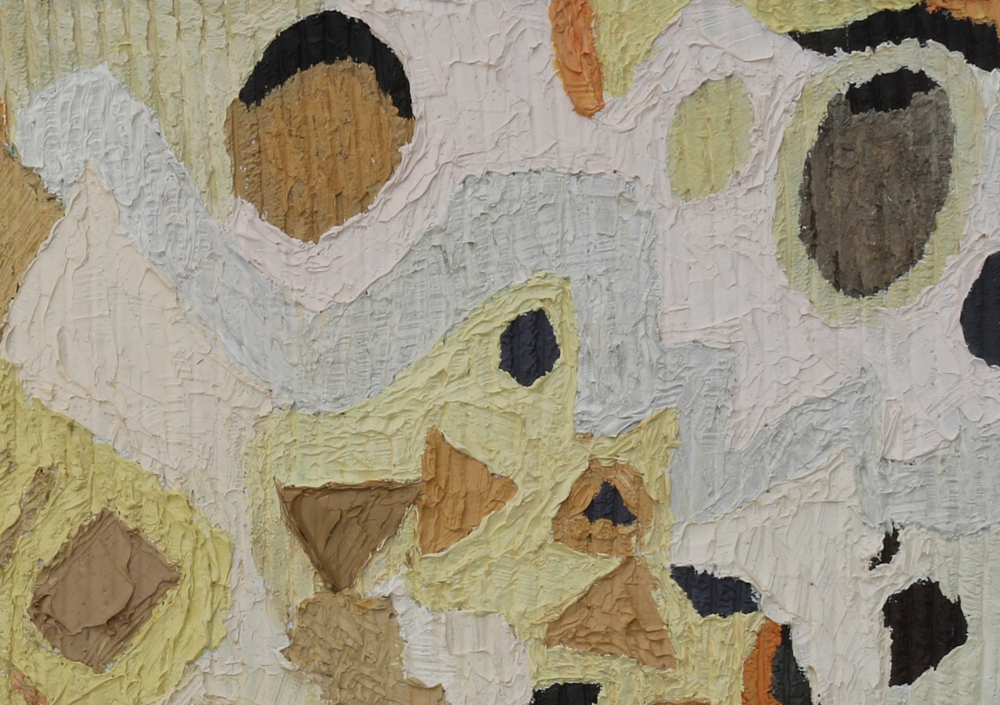 Painted Lady Detail ,  2012  Corduroy ridges create texture.