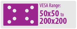 VESA Range: 50x50 to 200x200 | Small TV Wall Mount